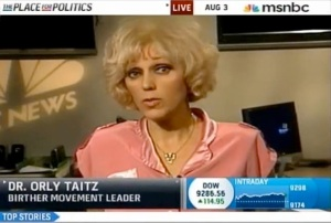 Orly Taitz's doubts on Obama's birth certificate are more mainstream than Lawrence Korb's support for escalation in Afghanistan.